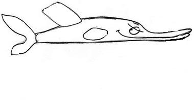 как нарисовать щуку 1