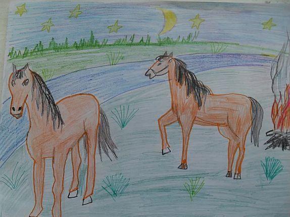 Лисята рисунки акварелью знакомых девушек