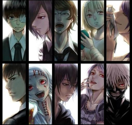 Как зовут персонажей, героев из аниме Токийский гуль Tokyo Ghoul