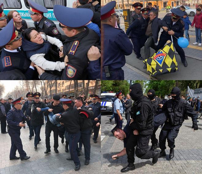 Митинг в Казахстане против переименования Астаны